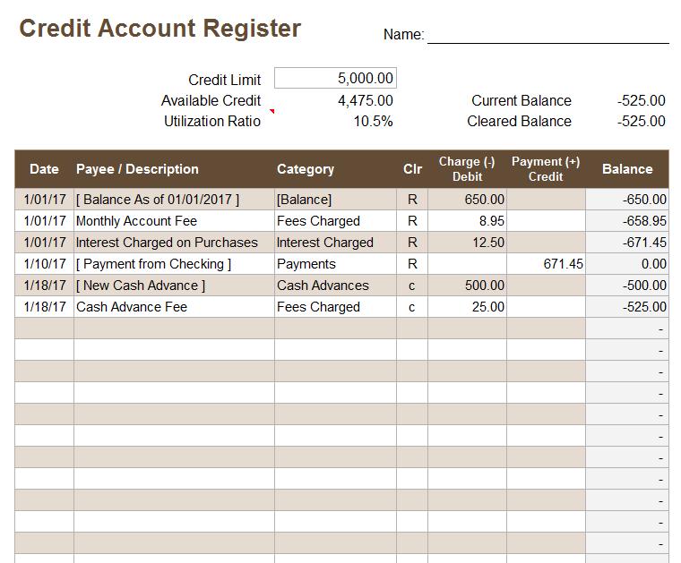 balance checkbook template