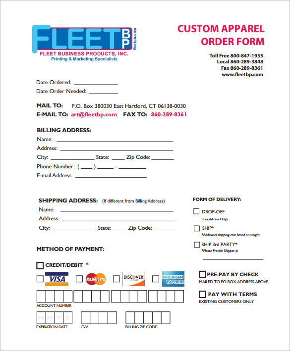 Custom Order Form Template Free charlotte clergy coalition