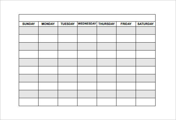 Employee Schedule Templates Free charlotte clergy coalition - monday to sunday schedule template