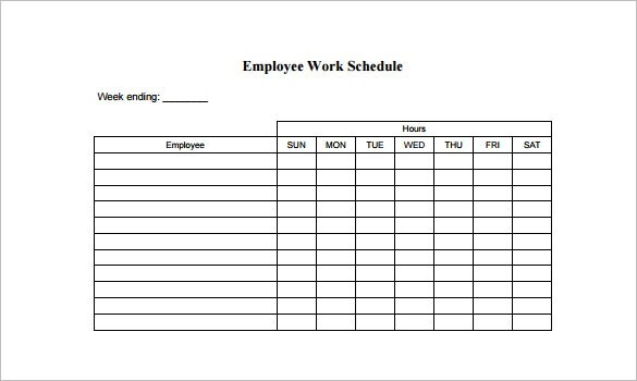 Employee Work Schedule Template charlotte clergy coalition - employee shift schedules