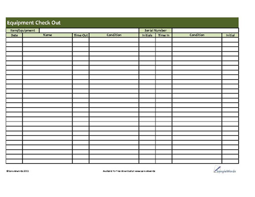 Equipment Checkout Form Template charlotte clergy coalition - employee equipment check out form