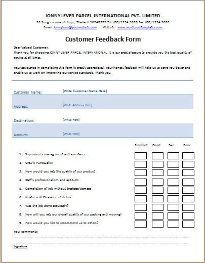 Feedback Template charlotte clergy coalition