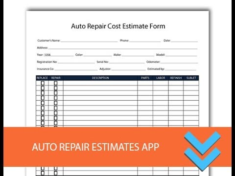 Free Auto Body Estimate Forms charlotte clergy coalition