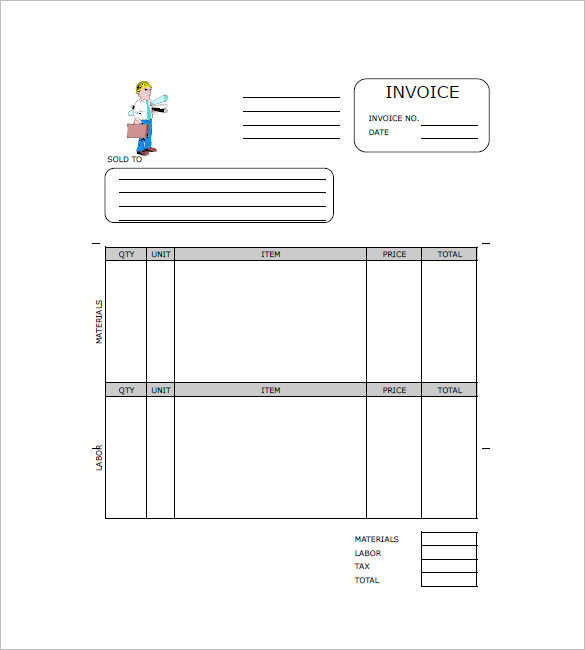 Free Construction Invoice Template charlotte clergy coalition