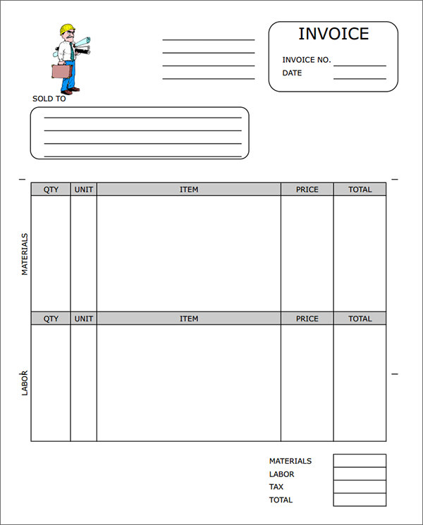 Free Construction Invoice Template charlotte clergy coalition - invoice sheets