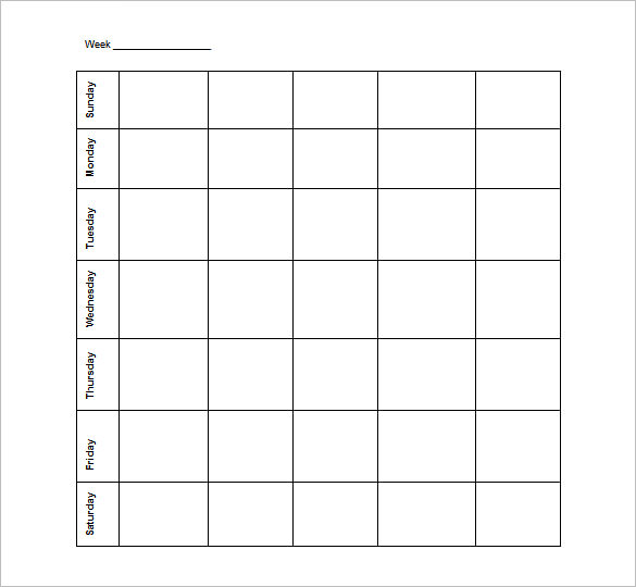 Free Printable Schedule Template charlotte clergy coalition - monday to sunday schedule template