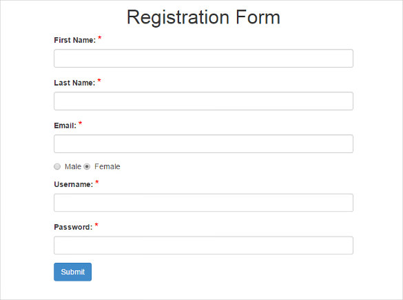 Free Registration Form Templates charlotte clergy coalition