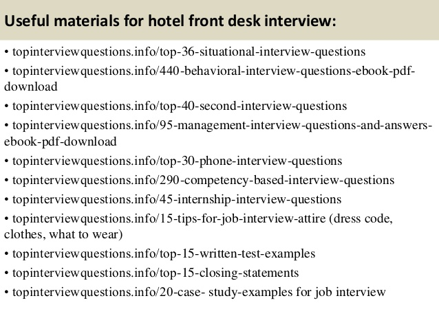 Hotel Front Desk Interview Questions charlotte clergy coalition