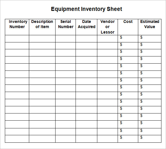 Inventory Sheet Sample charlotte clergy coalition
