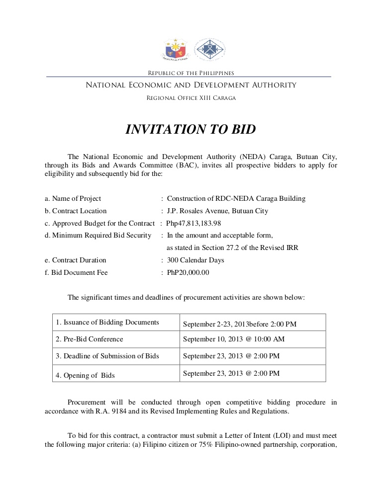 Invitation To Bid Template charlotte clergy coalition