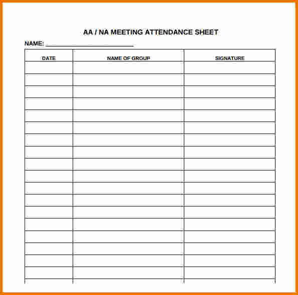 Meeting Attendance Sheet Template charlotte clergy coalition - sample attendance sheet template