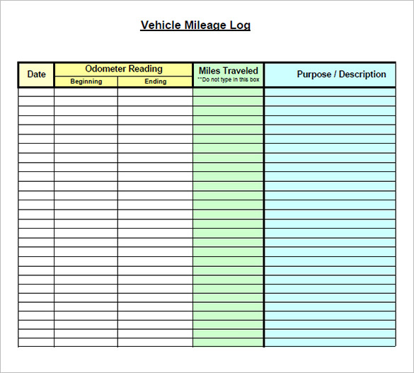 Mileage Form Template charlotte clergy coalition - Mileage Reimbursement Forms