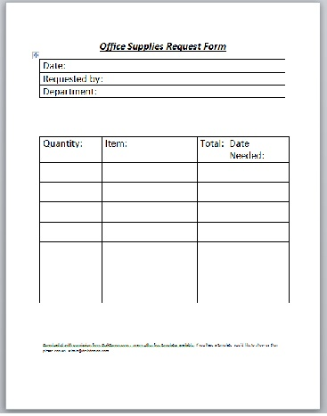 Office Supply Order Form Template charlotte clergy coalition