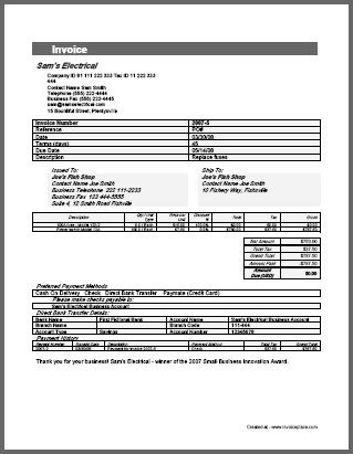 Payment Invoice Template charlotte clergy coalition