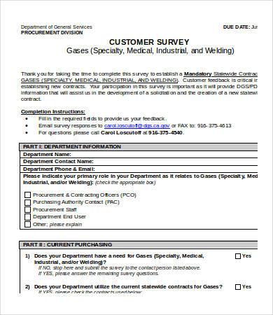 Printable Survey Template charlotte clergy coalition