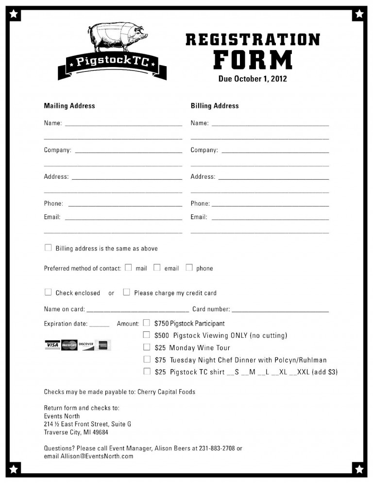 Registration Form Template Free Download charlotte clergy coalition