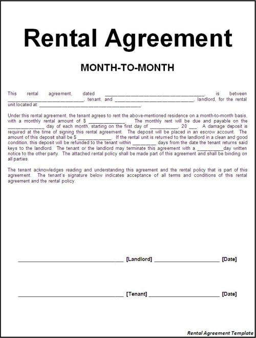 Rental Agreement Template charlotte clergy coalition