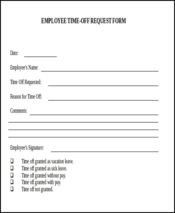 Request Day Off Form charlotte clergy coalition - request off forms