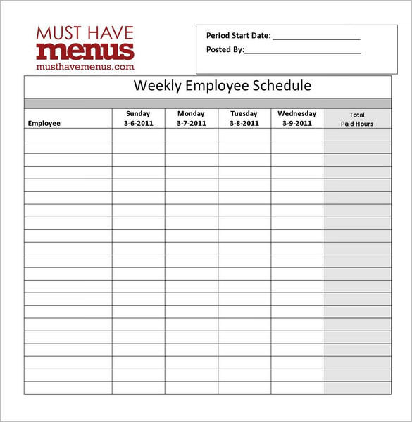 Restaurant Schedules Templates charlotte clergy coalition