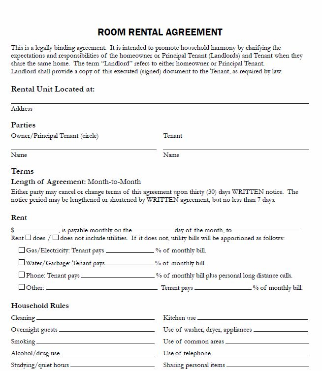 Room Lease Agreement Template charlotte clergy coalition - rental lease agreement
