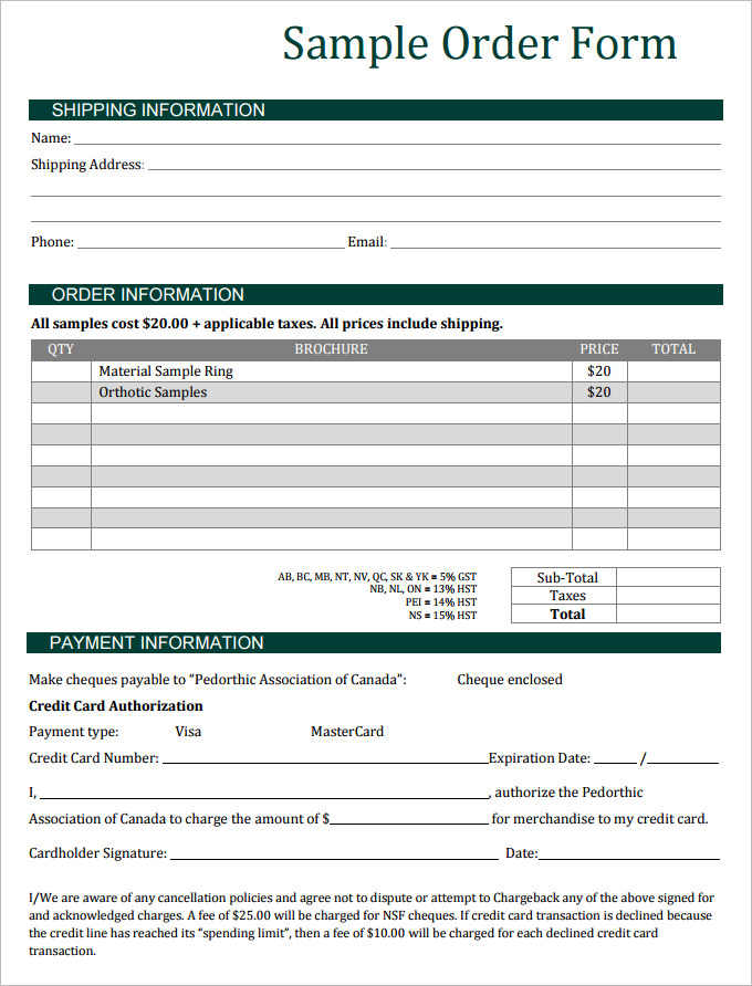 Sales Order Form Template charlotte clergy coalition