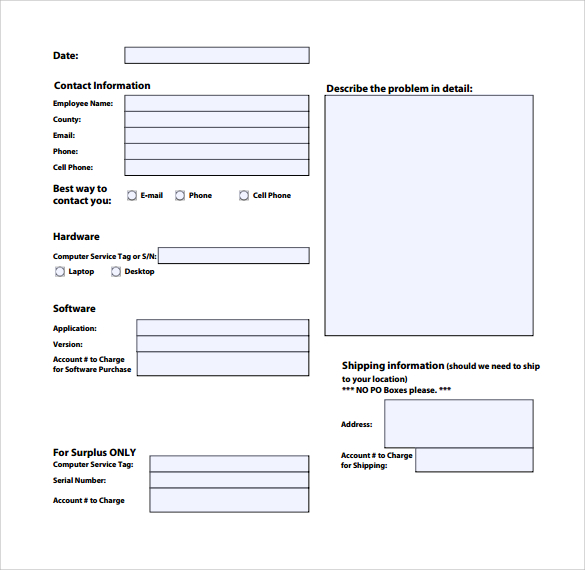 Service Request Form Template charlotte clergy coalition - request for information forms template