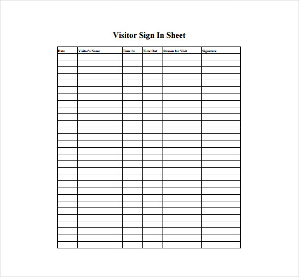 Sign In Sheet Template Free charlotte clergy coalition - class sign in sheet