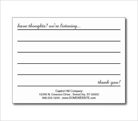 Suggestion Card Template charlotte clergy coalition