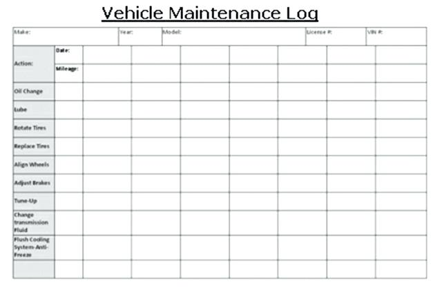 vehicle maintenance log app