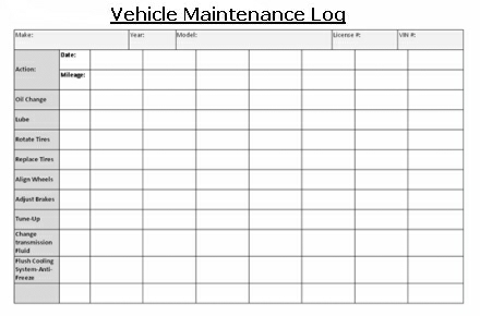 Truck Maintenance Log charlotte clergy coalition