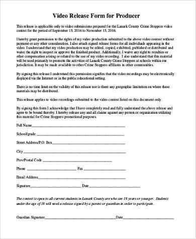 Video Production Release Form charlotte clergy coalition