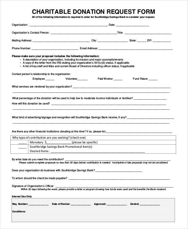 Charitable Donation Form Template charlotte clergy coalition