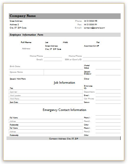 Information Form Template charlotte clergy coalition