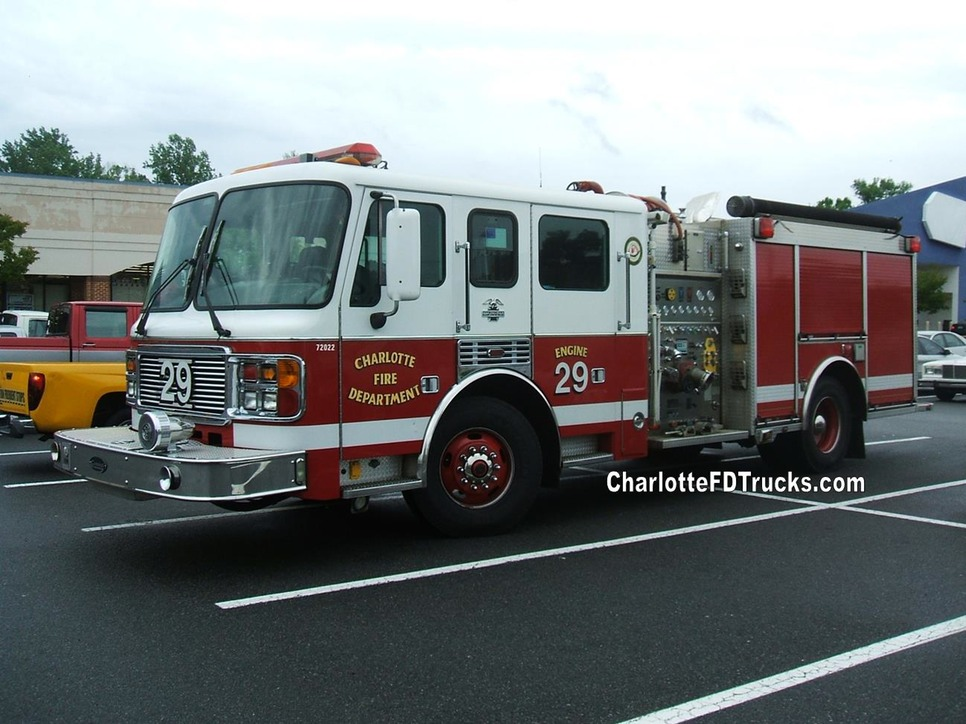 Fire Station 29 Charlotte Fd Trucks