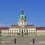 Charlottenburg Palace with Court of Honour and statue
