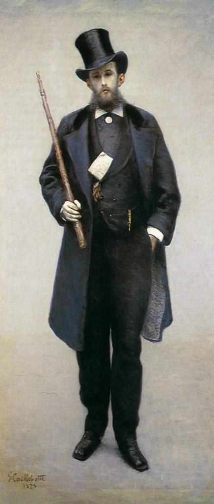 Man of 1875 by Caillebotte Hugot