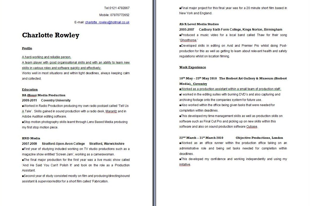 What Should I Put On My First CV Template Peravia Visi N  Interests For Resume