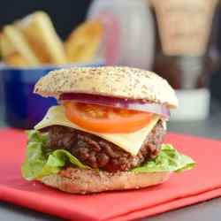 Noble To This Homemade Beef Burger Recipe Is So Quick Justtwo Beef Burger Tastespotting Gordon Ramsay Burger Recipe Masterchef Gordon Ramsay Burger Recipe Egg