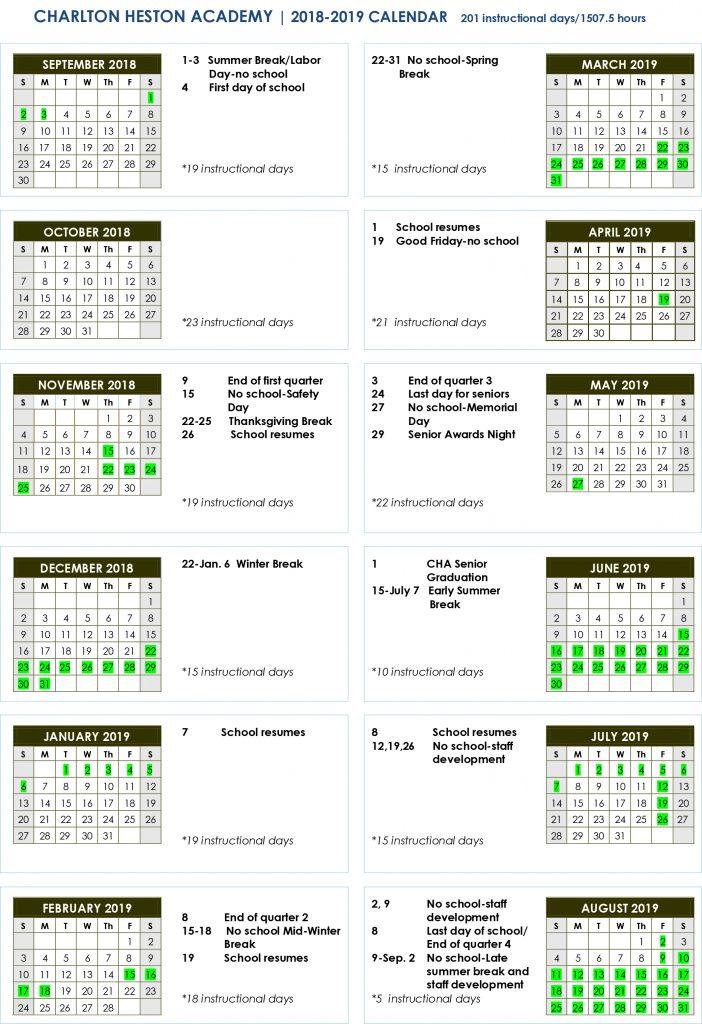 Calendars \u2013 CHA