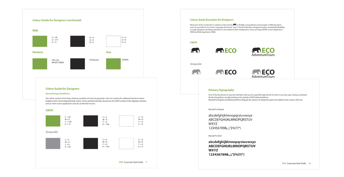 business card style guide - Google Search marketing 2 - sample user manual template