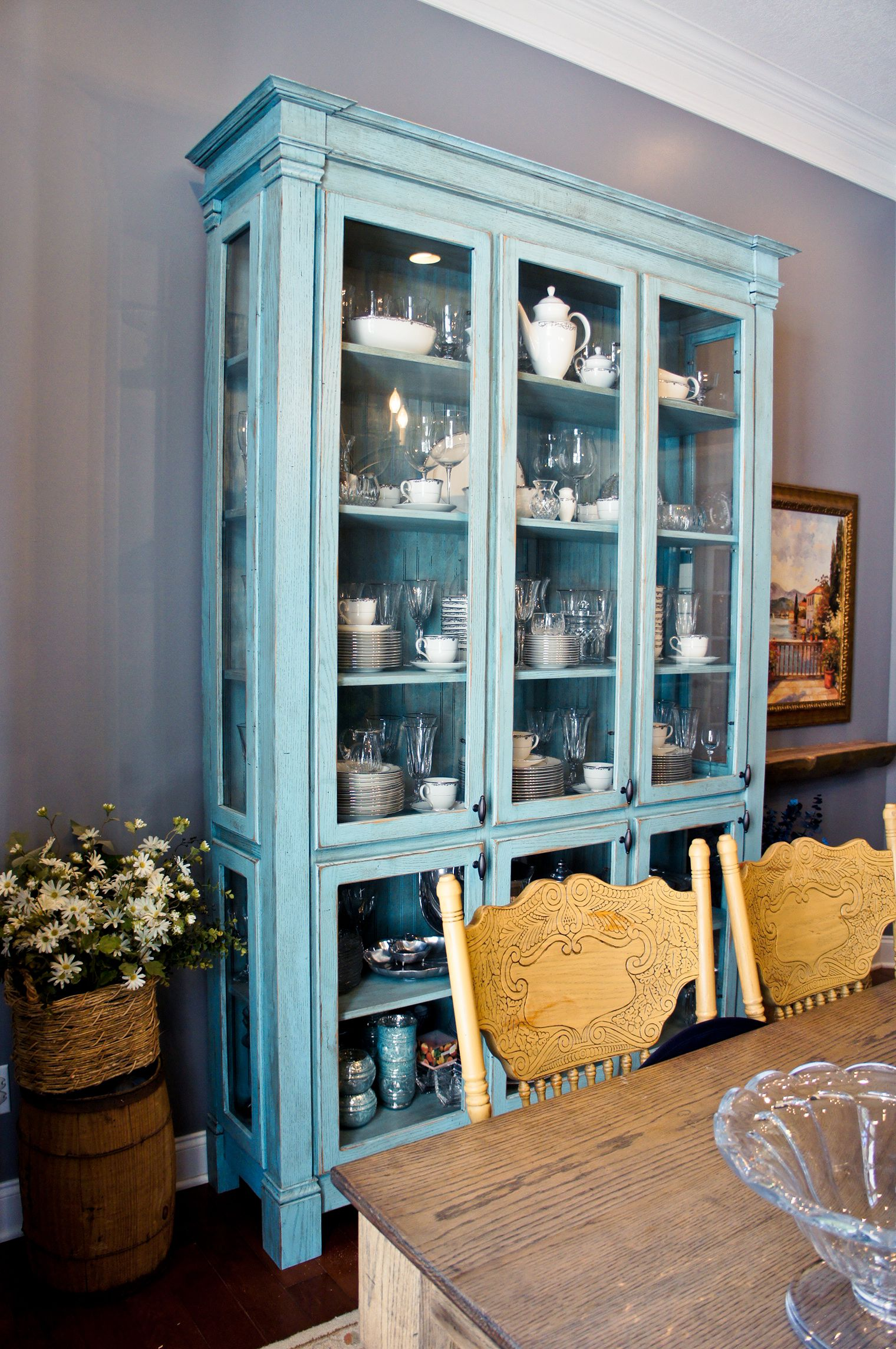 Duck Egg Blue Kitchen Cabinet Paint Duck Egg Blue In My Dining Room | Charming-ollie