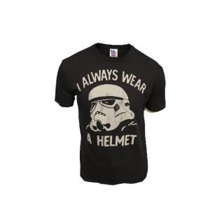 T shirt Star Wars I always wear a helmet Junk Food - Cometeshop - Charonbelli's blog mode