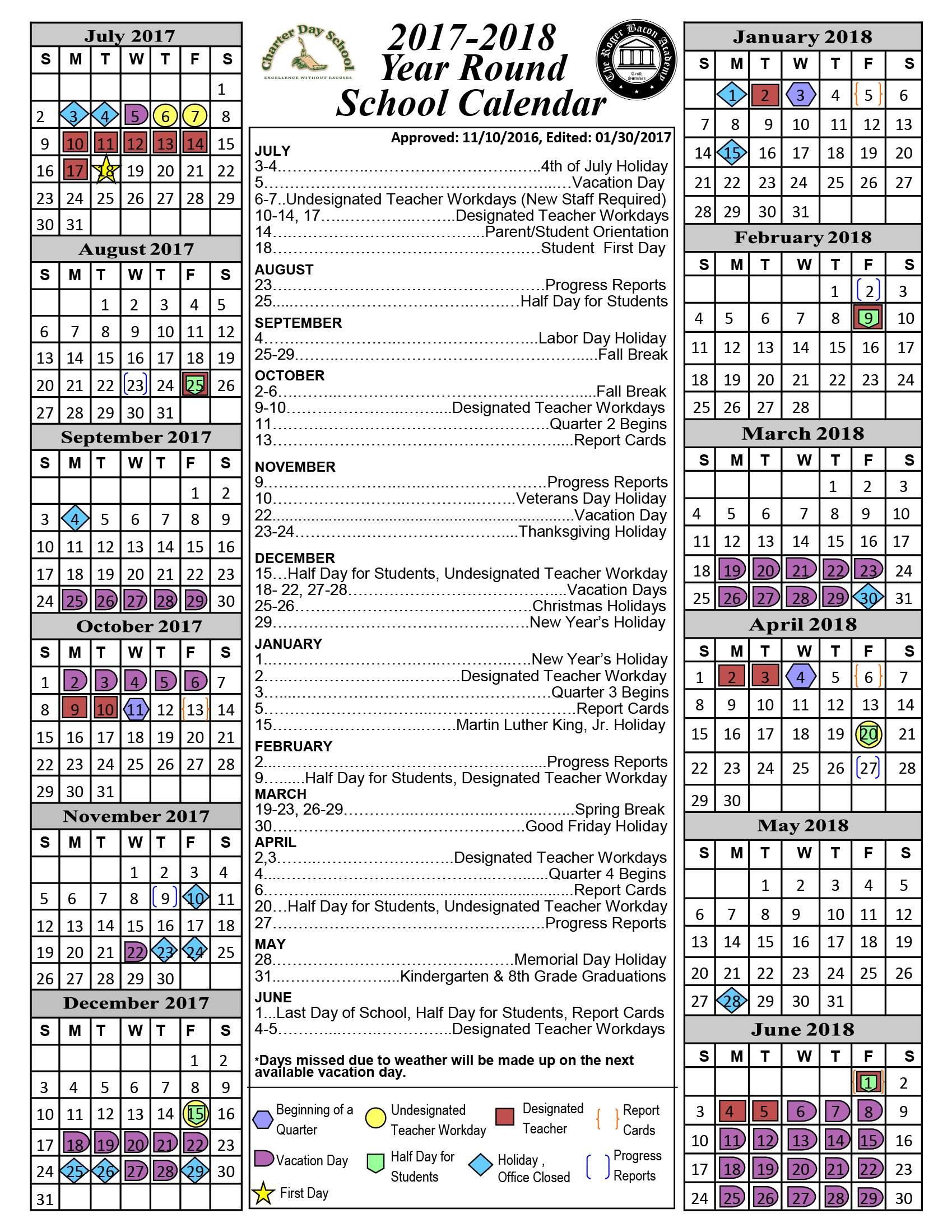 New York School Academic Calendar New York Law School Calendar 171; Charter Day School