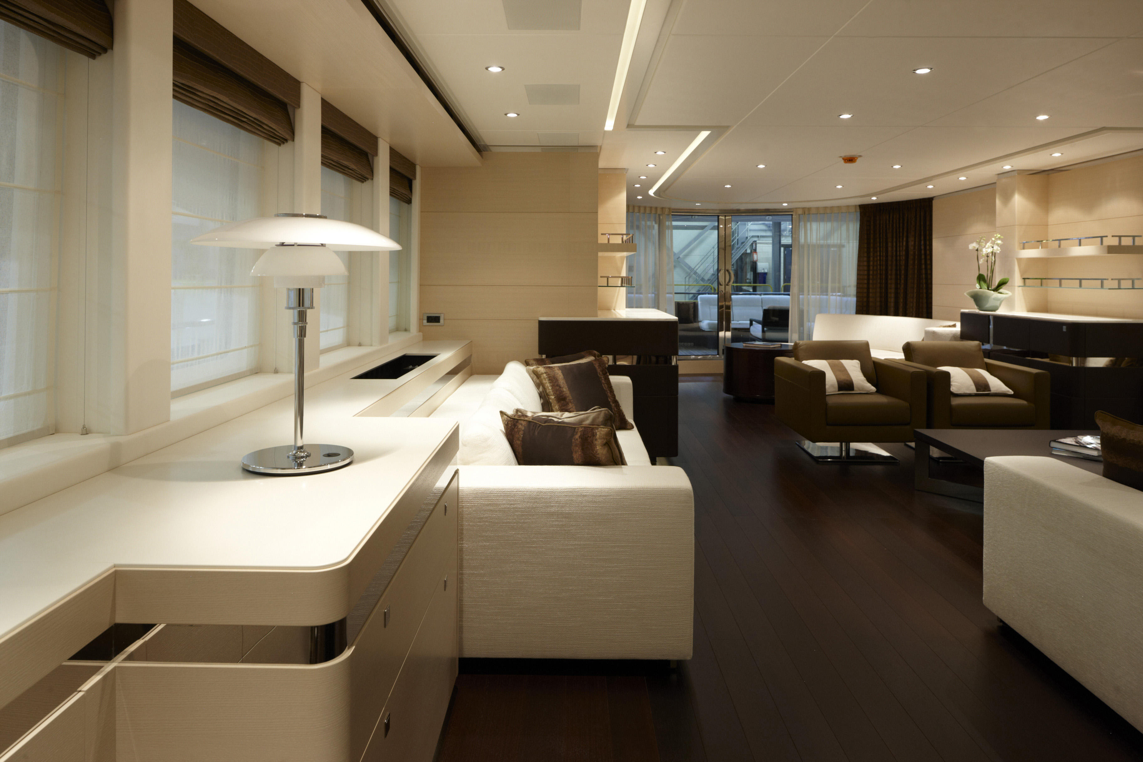 Inside Luxury Yachts Heesen Luxury Yacht Lady L Interior Yacht Charter