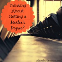 Master Or Masters Degree