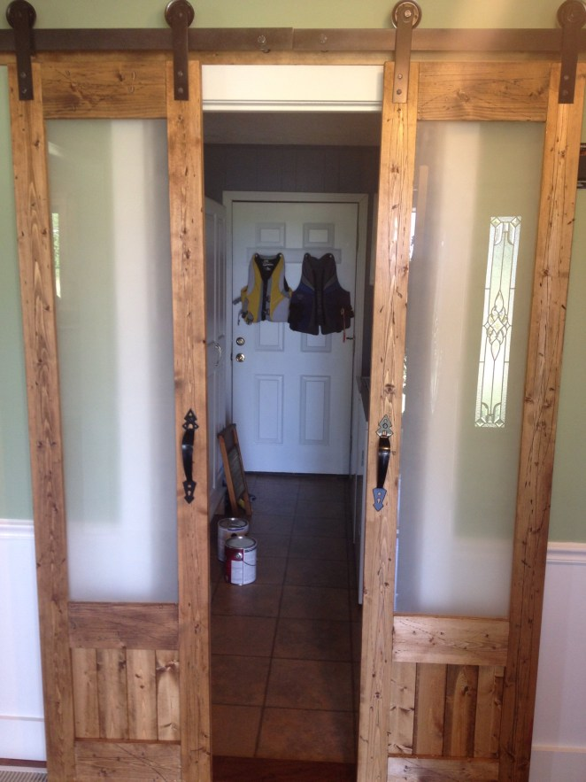 Dress up the mess sliding doors to laundry room woodshop for Laundry room sliding doors