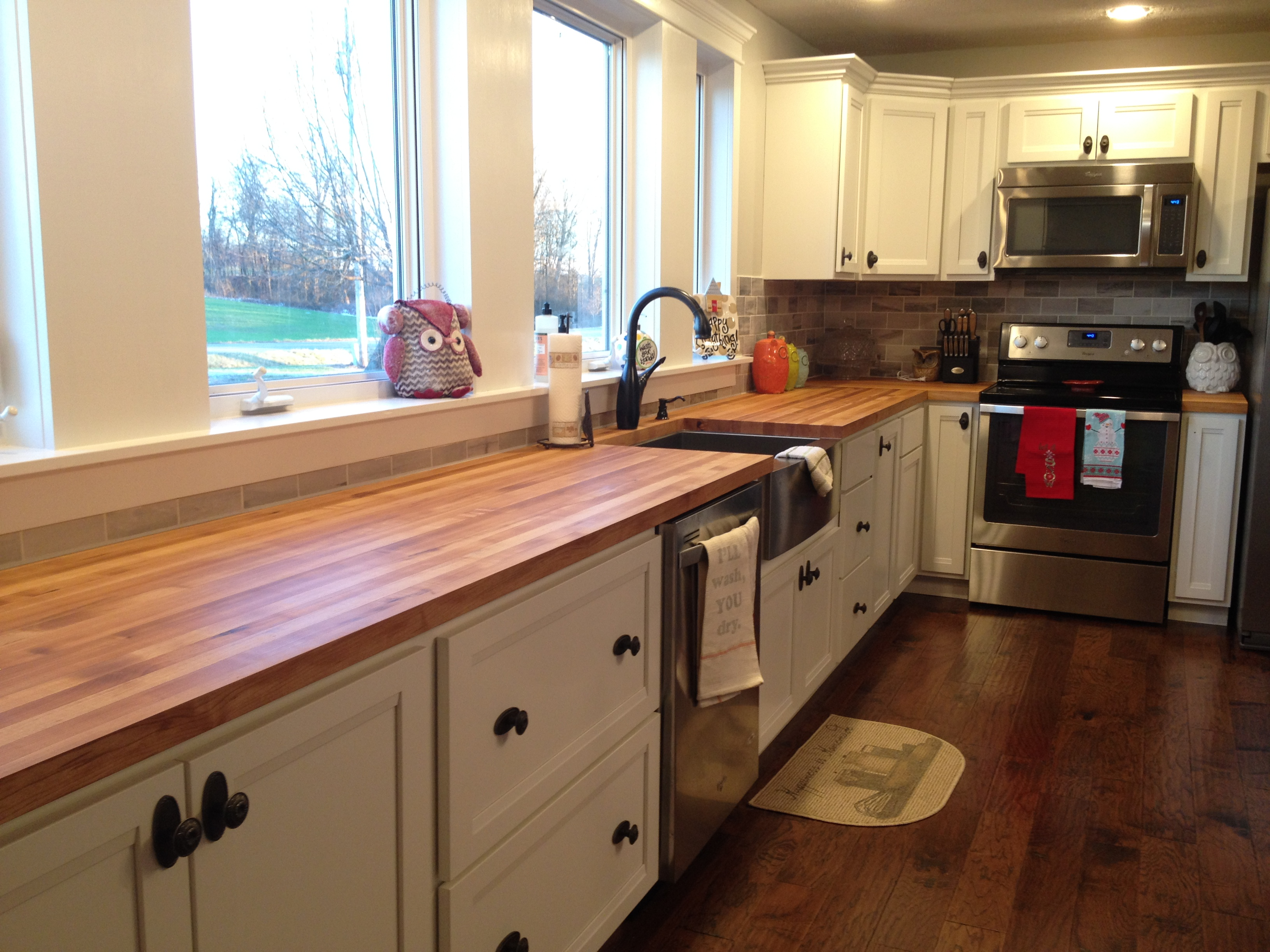 Kitchen Island Butcher Block Tops My Take On Butcher Block Countertops