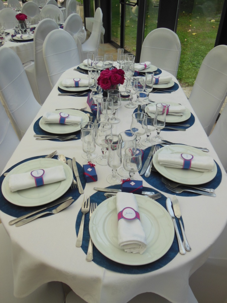 Coaching Decoration Mariage Du 6 Septembre 2014 - Fushia & Bleu Marine