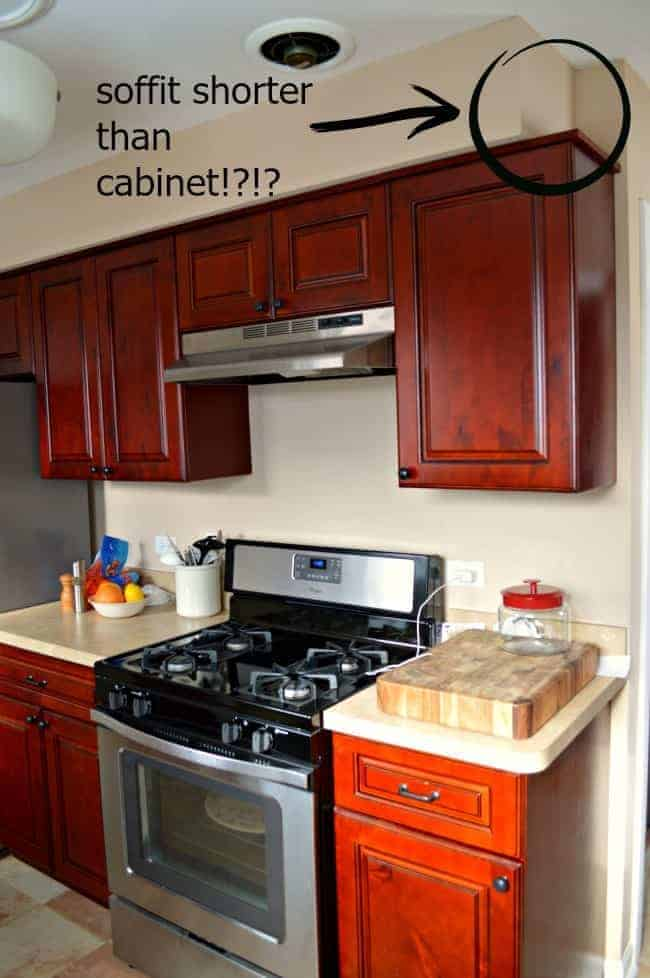 How To Set Up My Small Kitchen Cabinets Soffits Be Gone