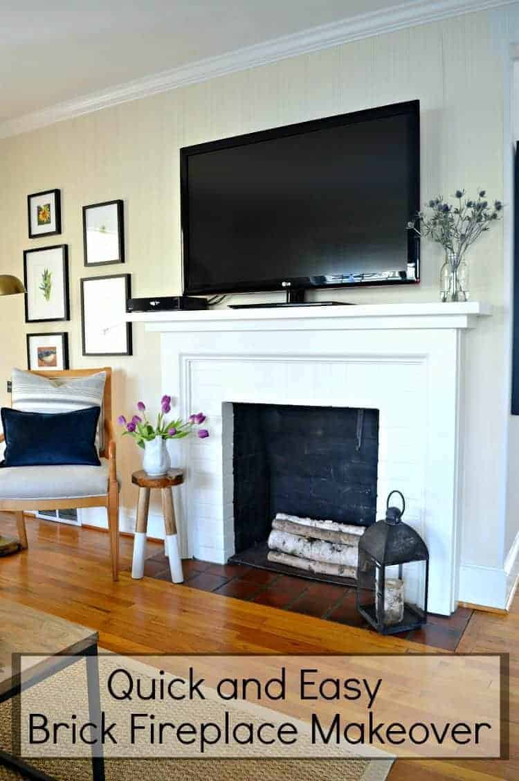 Update Old Brick Fireplace How To Paint An Old Brick Fireplace Chatfield Court